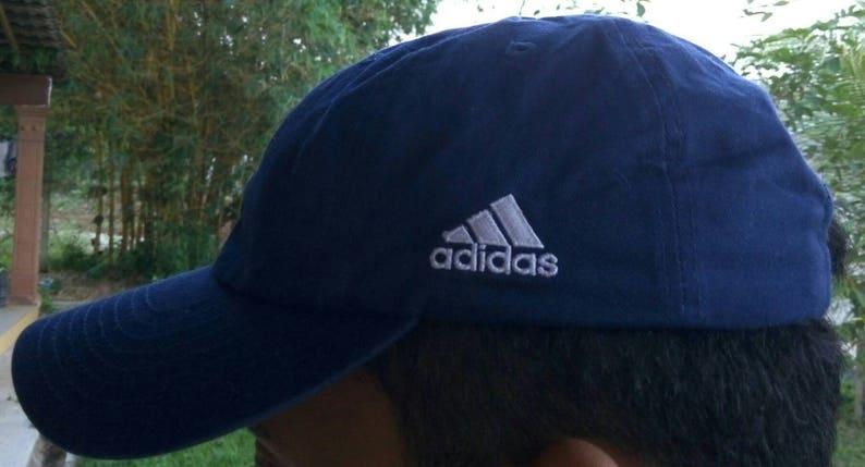 529e467561b Vtg ADIDAS IAAF Adjustableback Cap Hat