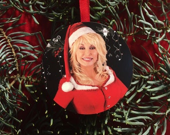 Dolly Parton Christmas Tree Ornament Ugly Holiday Party Gift Exchange