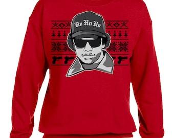 Eazy E NWA Ugly Christmas Sweater Gildan 50/50 Fleece