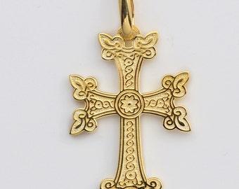 14kt Gold Ornate Armenian Cross
