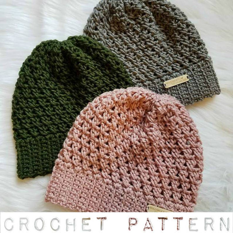 1624d7b3721 The Riley Hat PATTERN Crochet Pattern Crochet Slouchy Beanie