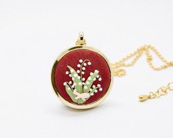 Mom READY TO SHIP Personalized floral locket Christmas Birthday gift Unique keepsake Magnolias flowers necklace Photo locket