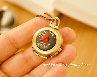 LOCKET with cardinal