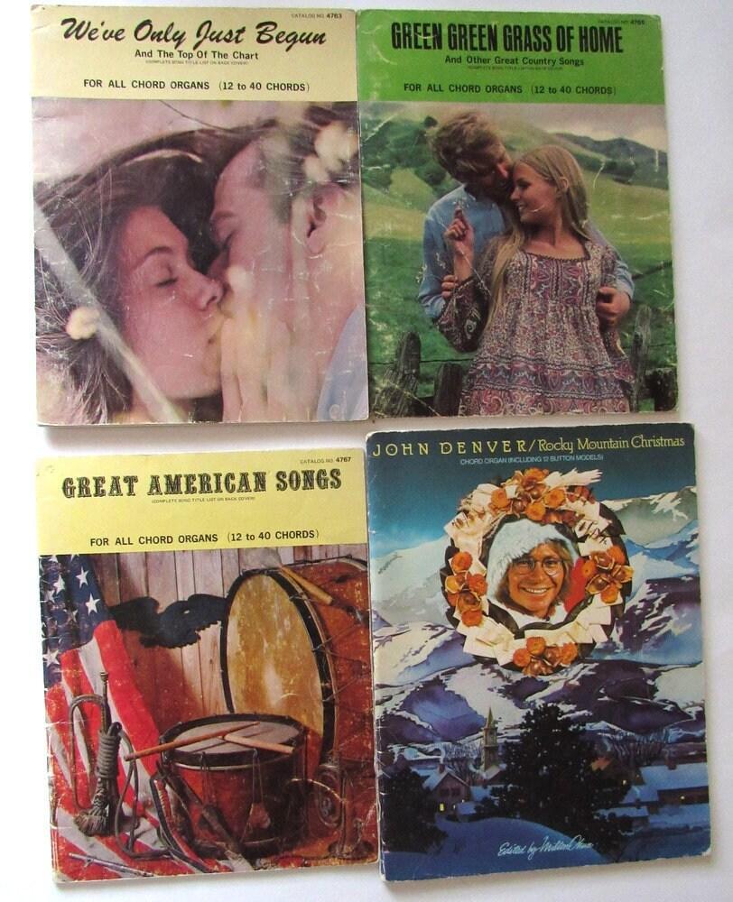 Vintage Music Books For Chord Organs 12 To 40 Chords John   Etsy