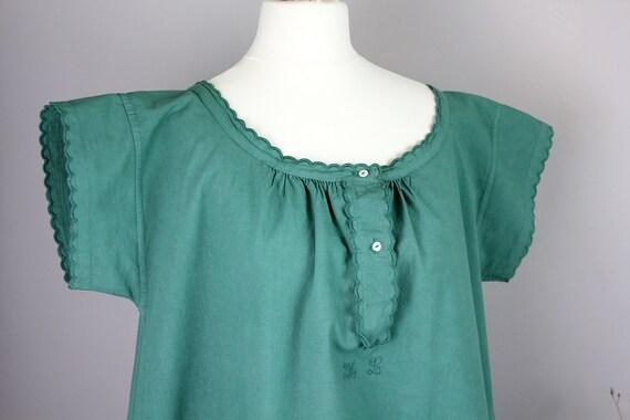 Dress - Old green shirt