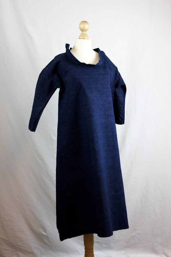 Dress - Old linen shirt blue - image 2