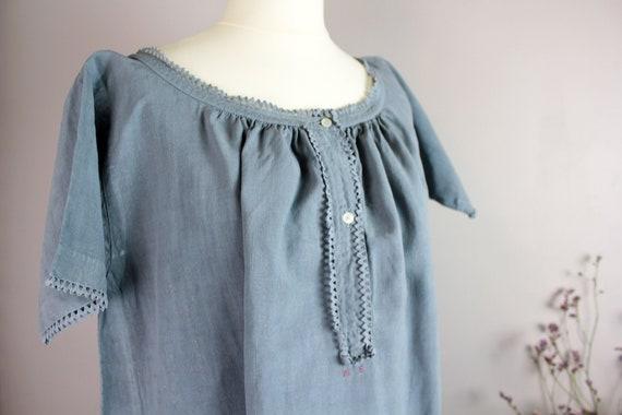 Dress - Old blue linen shirt