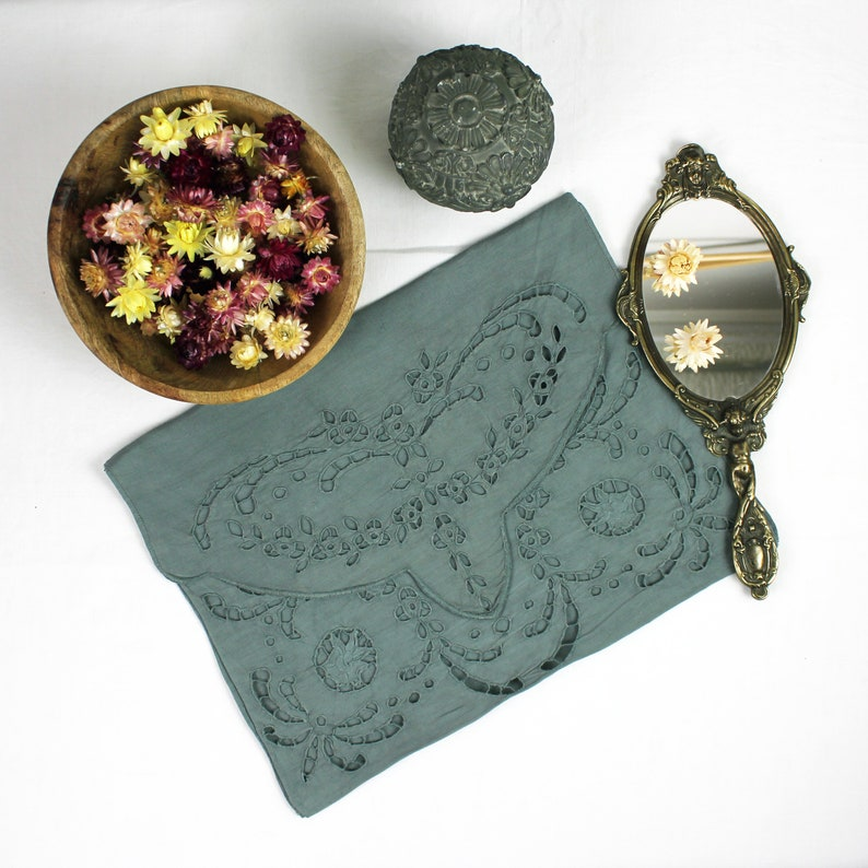 old handmade lingerie pouch