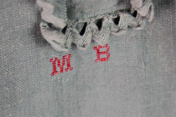 Dress - Old blue linen shirt - image 5