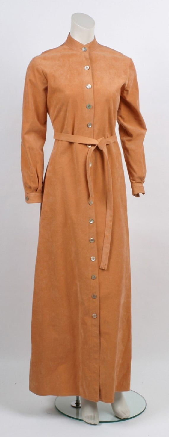 1970s Halston Ultra Suede Dress