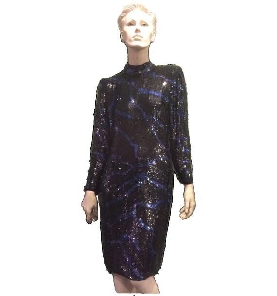 Bill Blass Sequin Evening Gown