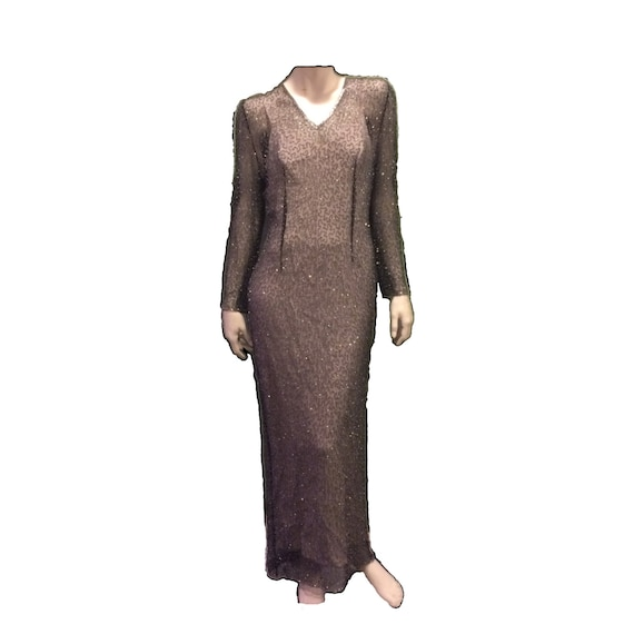 Michael Novarese Beaded Evening Gown