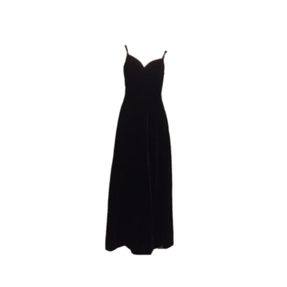 Kiki Hart Black Velvet Evening Gown