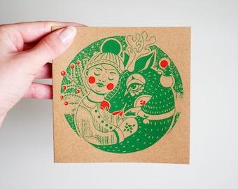 Winter 2017- postcard + envelope