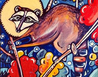 Raccoon, Woodland Creatures Series