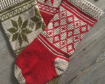 Comfort and Joy Christmas Stocking - CROCHET PATTERN