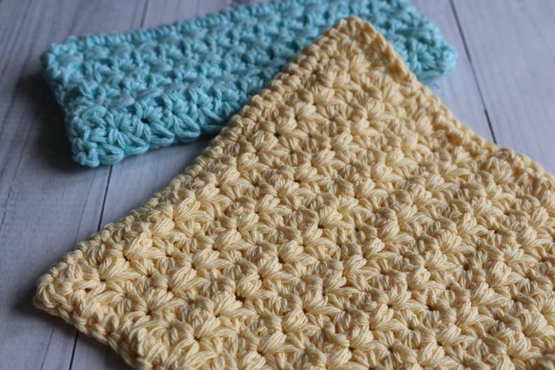 Daisy Stitch Crochet Washcloth  CROCHET PATTERN image 0