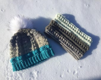 Paired Up Toque and Neck Warmer - CROCHET PATTERN