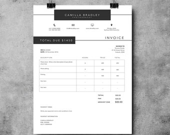 photography invoice template invoice design receipt template ms word and photoshop invoice