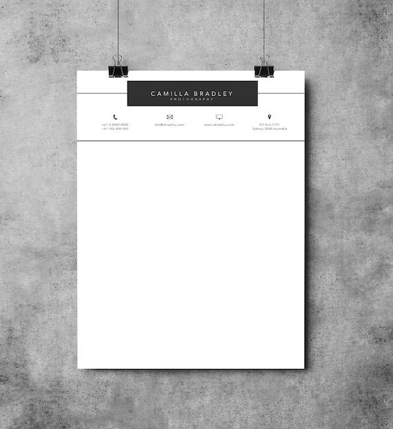 Briefkopf Vorlage Druckbare Briefkopf Design Microsoft Etsy