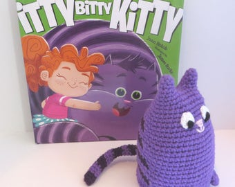 Crochet Kitty (small) with storybook Itty Bitty Kitty