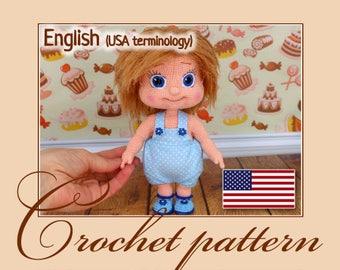 Crochet pattern - Alyonushka (Amigurumi Doll Pattern)