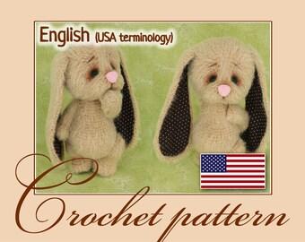 Bunny Melancholy - Amigurumi Crochet Doll Pattern PDF file by Anna Sadovskaya