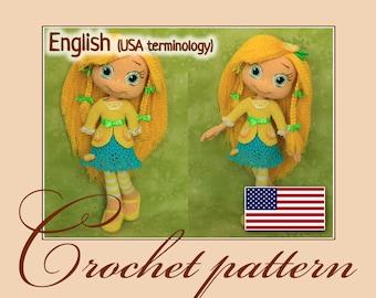 Lemon Meringue - Amigurumi Crochet Doll Pattern PDF file by Anna Sadovskaya