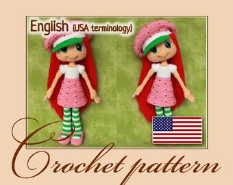 Strawberry Shortcake - Amigurumi Crochet Doll Pattern PDF file by Anna Sadovskaya