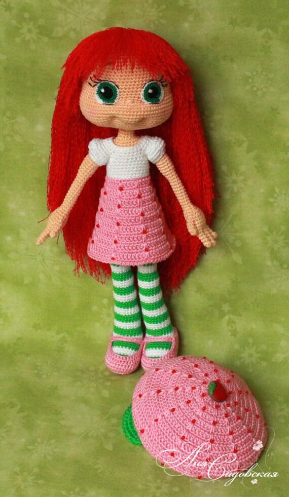 Strawberry Shortcake Amigurumi Crochet Doll Pattern Pdf File Etsy