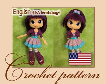Plum Pudding - Amigurumi Crochet Doll Pattern PDF file by Anna Sadovskaya