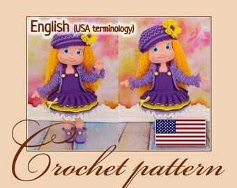 Amigurumi Pattern Crochet Doll Violetta -  PDF file by Anna Sadovskaya