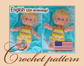 Crochet pattern - Antoshka (Amigurumi Doll Pattern)