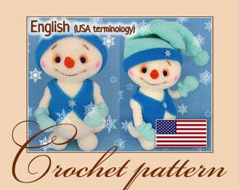 Kuzyomka – the snowman - Amigurumi Crochet Pattern PDF file by Anna Sadovskaya