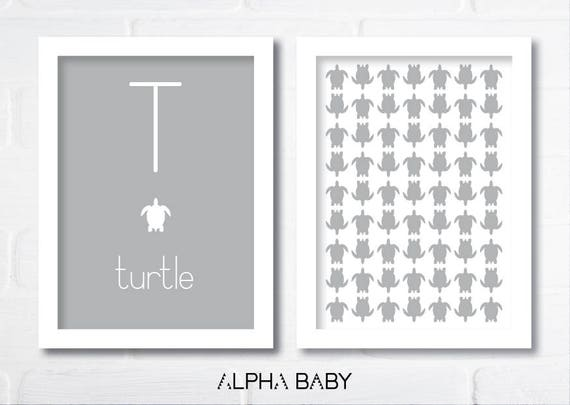 T for TURTLE Poster Set