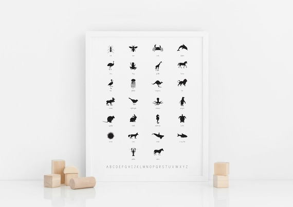 Alphabet + Animal Name Poster