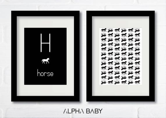 H for HORSE Poster Set