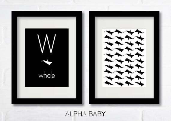W for WHALE Poster Set