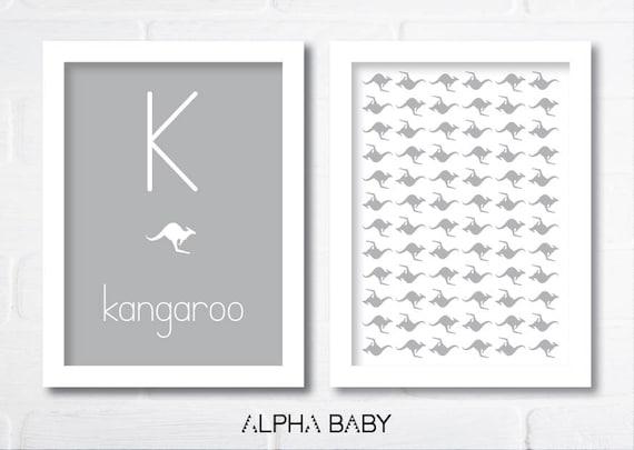 K for KANGAROO Poster Set