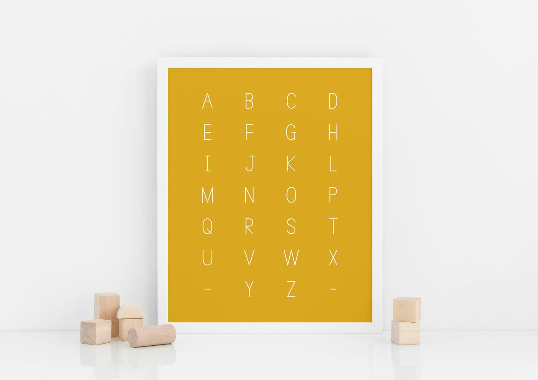 постер алфавит цифры