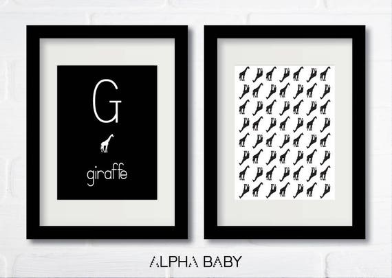 G for GIRAFFE Poster Set