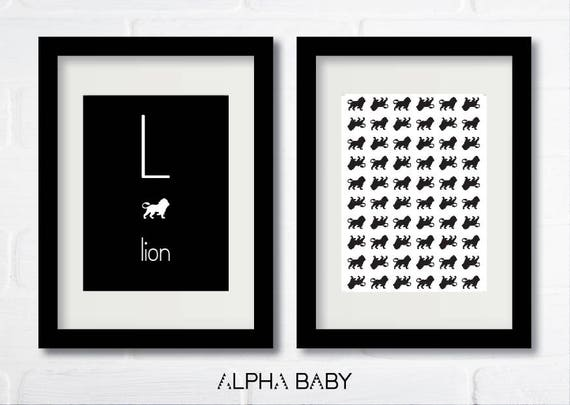 L for LION Poster Set