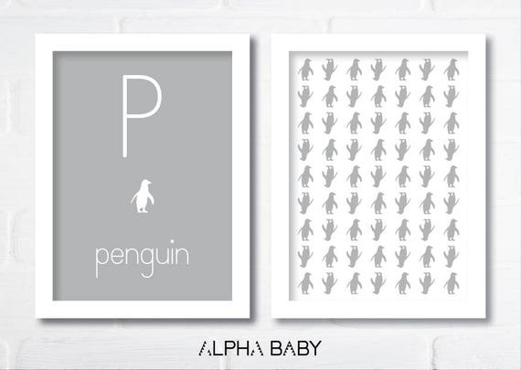 P for PENGUIN Poster Set