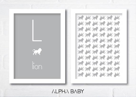 L for LION Poster Set