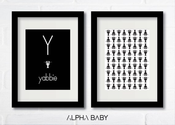 Y for YABBIE Poster Set