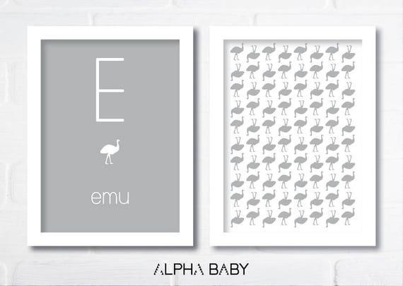 E for EMU Poster Set