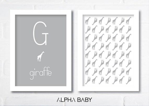 G for GIRAFFE Poster Set