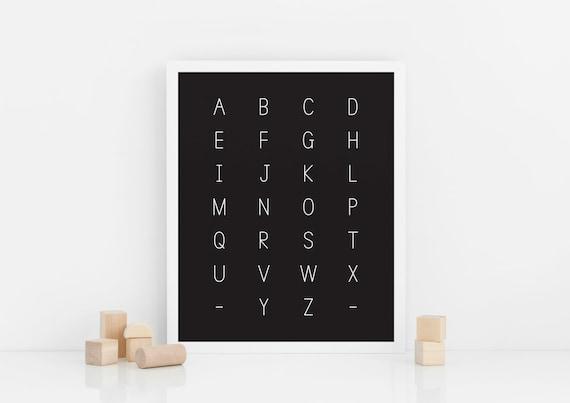 Alphabet Poster (Physical print)