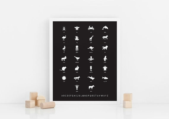 Alphabet + Animal Name Poster