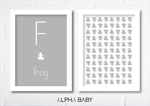 F for FROG Poster Set